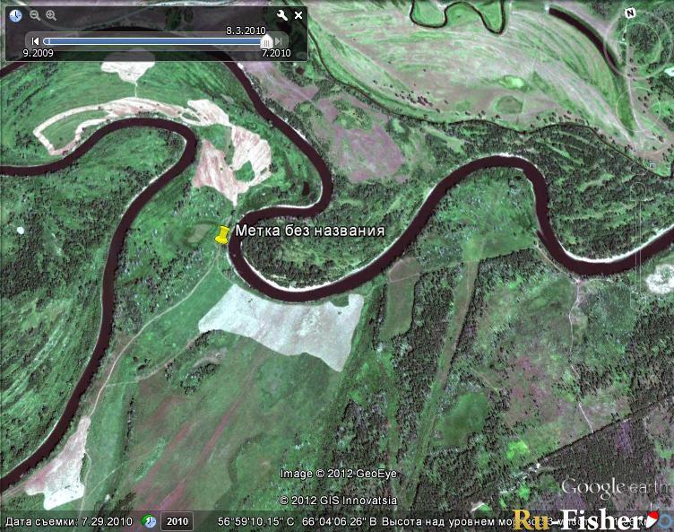 рыболовные места на карте тюмени